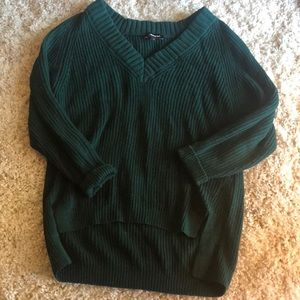 Express Oversized High Low Sweater